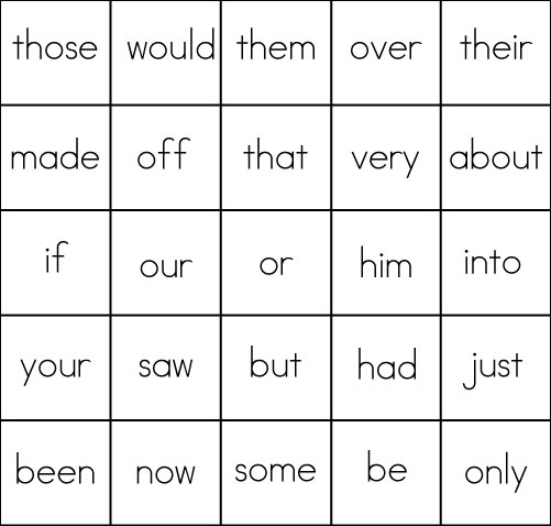 graphic about Word Game Printable referred to as Sight Phrase Online games: BINGO - Sight Words and phrases, Examining, Creating