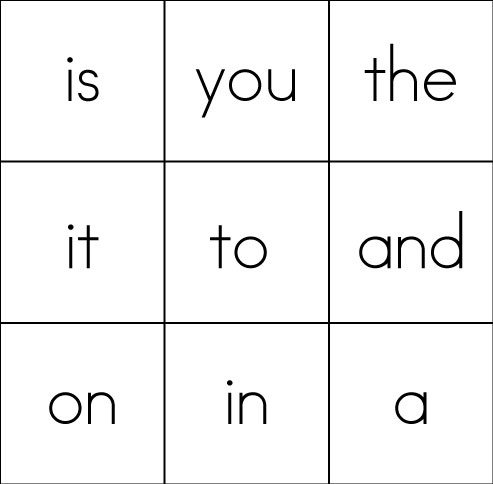 photograph about Printable Sight Word Cards identified as Sight Phrase Bingo Card #3 (9 Sight Text) - Sight Words and phrases