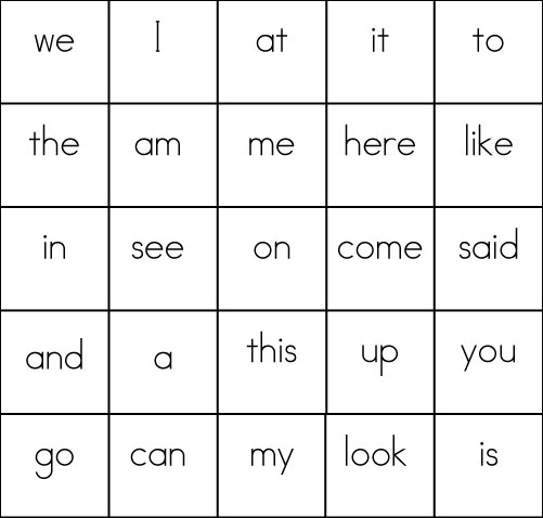 photo regarding Kindergarten Sight Word List Printable named Sight Term Video games: BINGO - Sight Text, Looking at, Producing