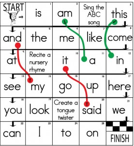 Printable  Game: Word  Sight Sight games Word Board board sight Games  Games printable word