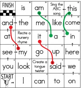 sight word board games sight words reading writing spelling