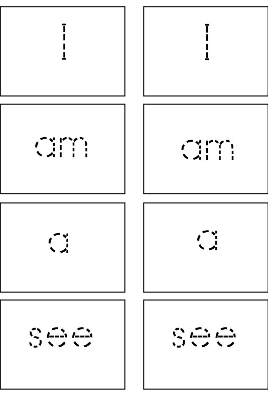 Sight Word Game Cards: First 25 Sight Words - Sight Words ...