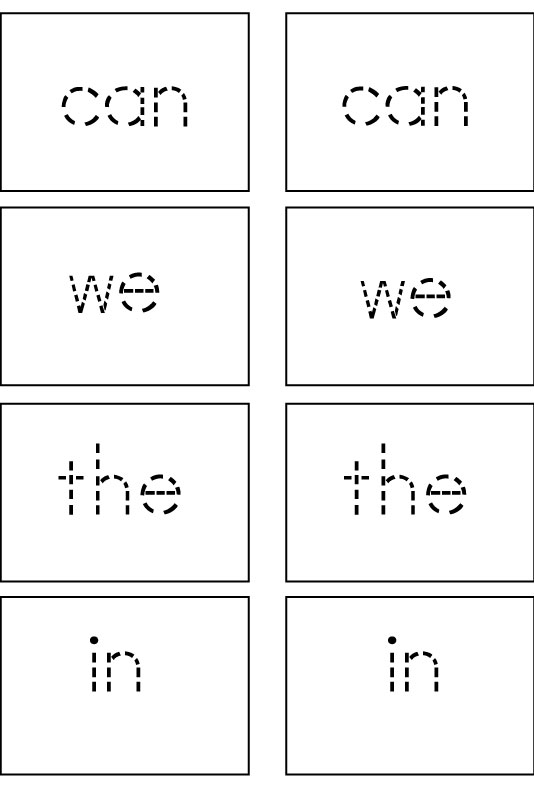 Sight Word Game Cards: First 25 Sight Words - Sight Words, Reading ...