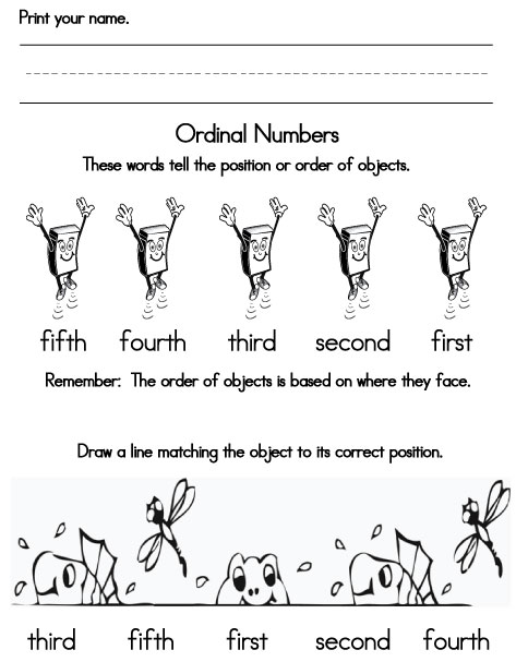 math worksheet : ordinal numbers : Ordinal Numbers Kindergarten Worksheets
