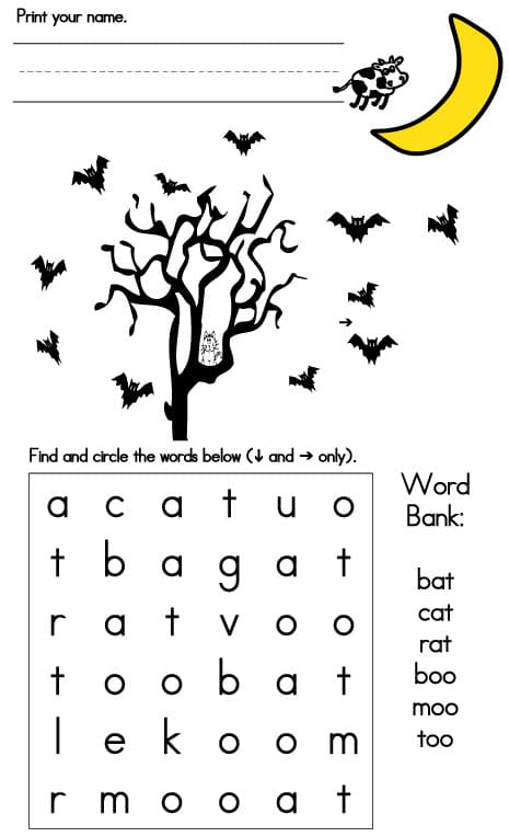 Halloween Games – Easy Word Search