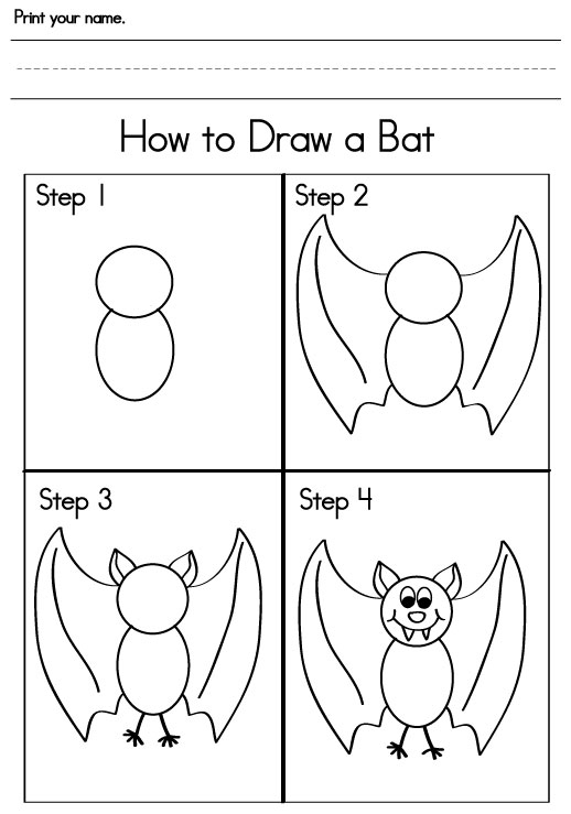 bat anatomy drawing