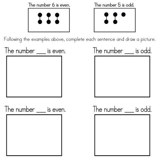 Even and Odd Numbers – Even and Odd Numbers Worksheets