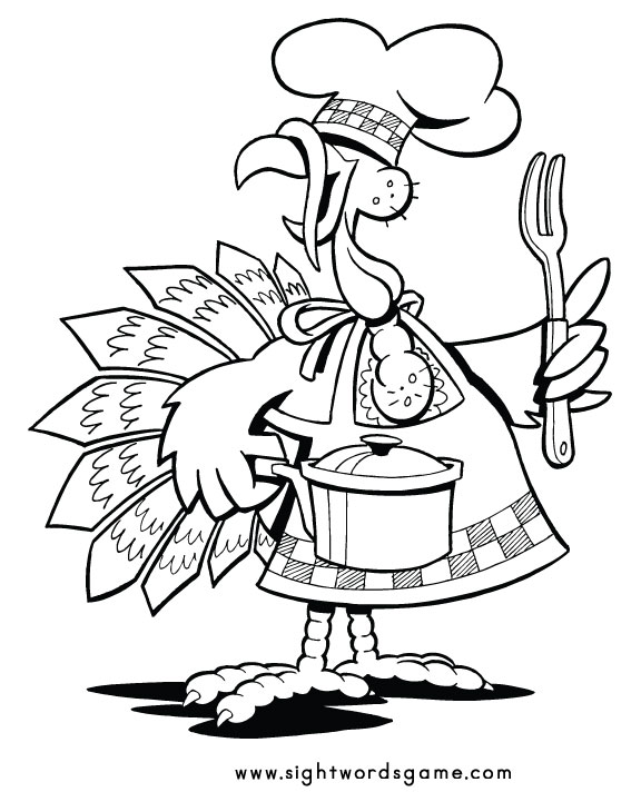 fun turkey coloring pages - photo#2