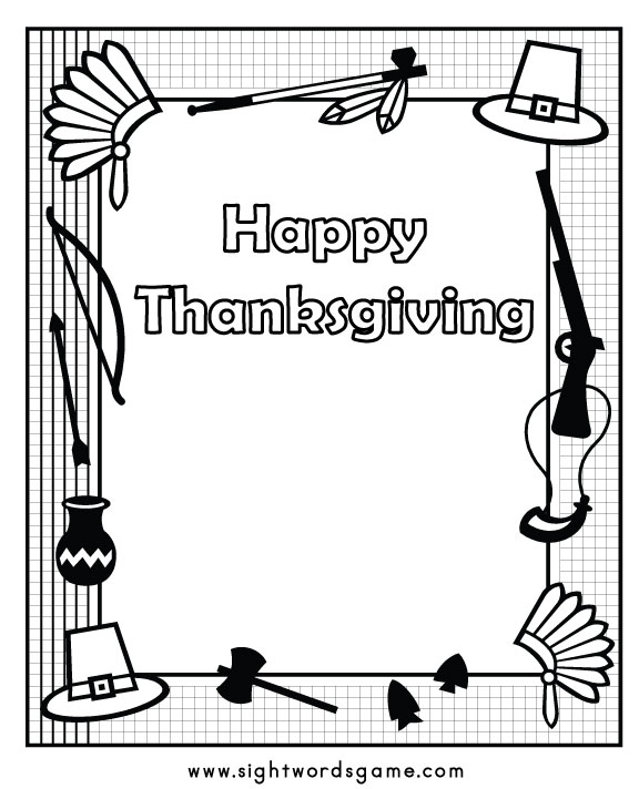cool thanksgiving coloring pages - photo#20