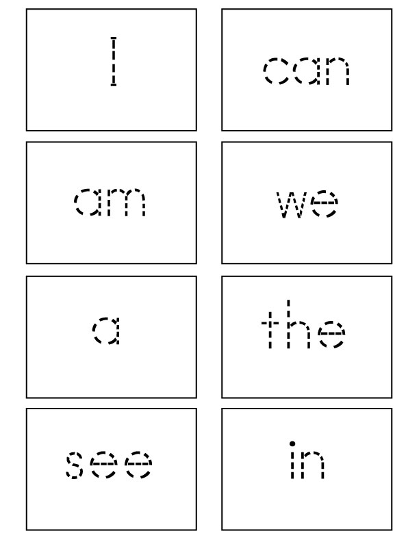 Sight Words Flash Cards - Kindergarten - Sight Words