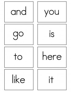 Worksheets Flash Card Of Words kindergarten sight words flash cards color each word andor add