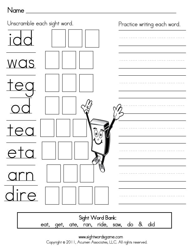 Sight-Word-Worksheets-Primer-Scramble-3