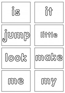 dolch sight word flashcards