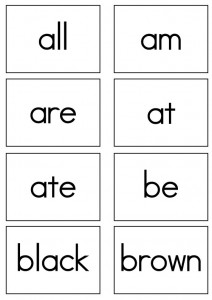 dolch sight words flash cards primer