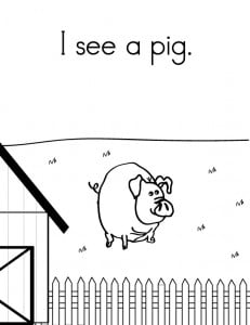 graphic relating to Sight Word Printable Books identified as Sight Phrase Guide: Farm Pets - Sight Text, Looking through