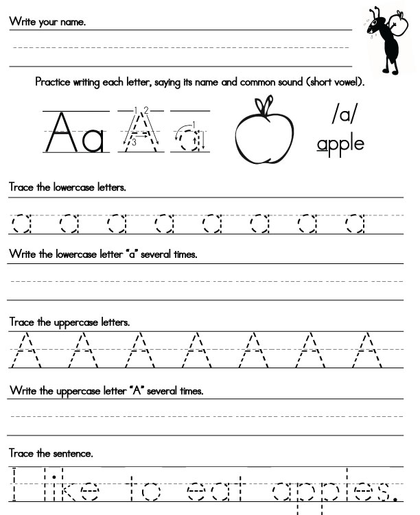 Printable Handwriting Worksheets Sight Words Reading Writing