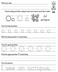 Collection of Solutions Letter O Printable Worksheets On Format ...