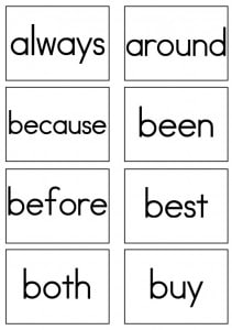 Dolch Sight Words Flash Cards - Second Grade - Sight Words, Reading ...