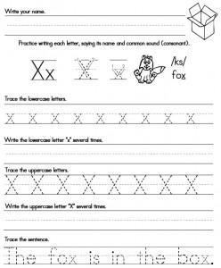 Handwriting Worksheet Xx