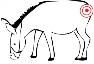 Eloquent image for pin the tail on the donkey printable