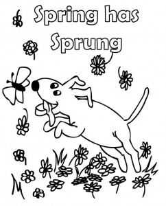 Spring Coloring Pages - Sight Words, Reading, Writing ...