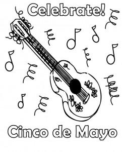 cinco de mayo coloring pages cinco de mayo coloring page - Cinco De Mayo Skull Coloring Pages