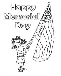 memorial day coloring page - Memorial Day Coloring Pages