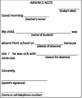Absent note 1g absence note for school thecheapjerseys Image collections