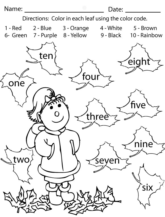 Fall Worksheets For Kids – Fall Worksheets