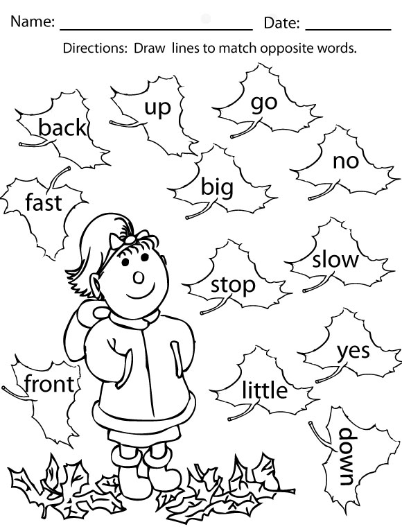 Fall Coloring Pages And Activities Sight Words Reading Writing