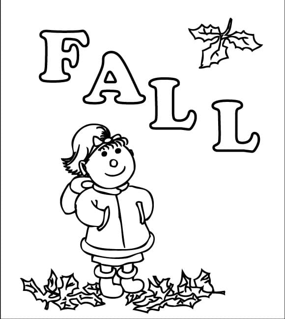 Fall Coloring Page on fall coloring math worksheet 1st grade