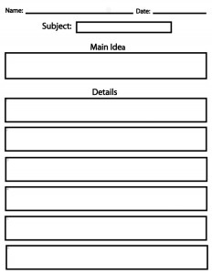 graphic relating to Main Idea Graphic Organizer Printable called Conclusion for Basic Grades - Sight Words and phrases, Looking at