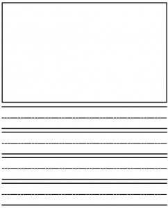 kinder writing paper
