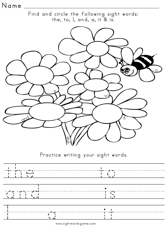 Worksheets Sight Words For First Grade Worksheets Free sight word worksheet spring1