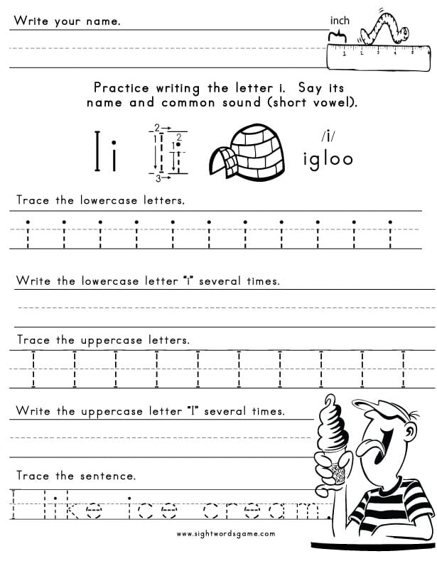 Letter-I-Worksheet-1