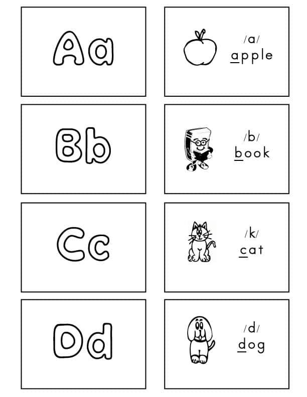 picture about Alphabet Flash Cards Printable Black and White referred to as Alphabet