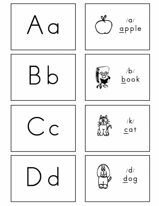 Alphabet-Flash-Cards-Regular-Font