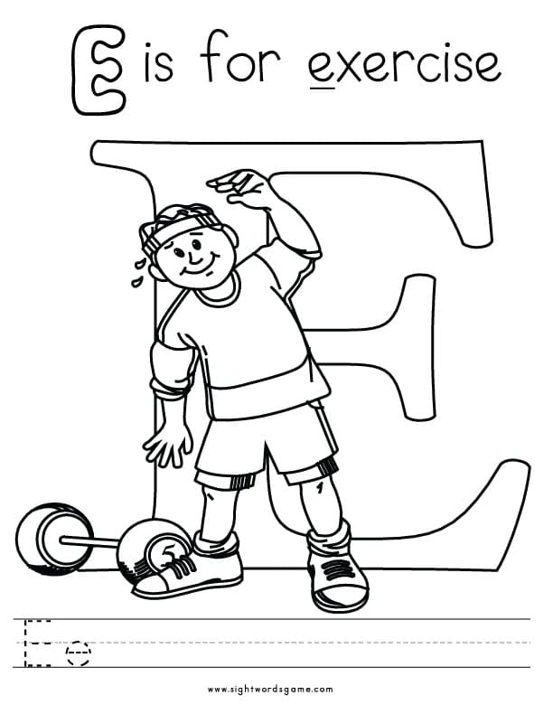 e coloring pages - photo #24