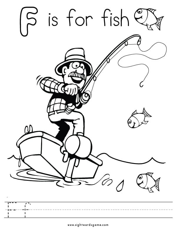f letter coloring pages - photo #44