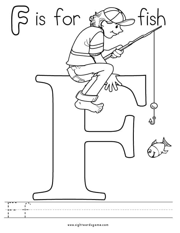f letter coloring pages - photo #32