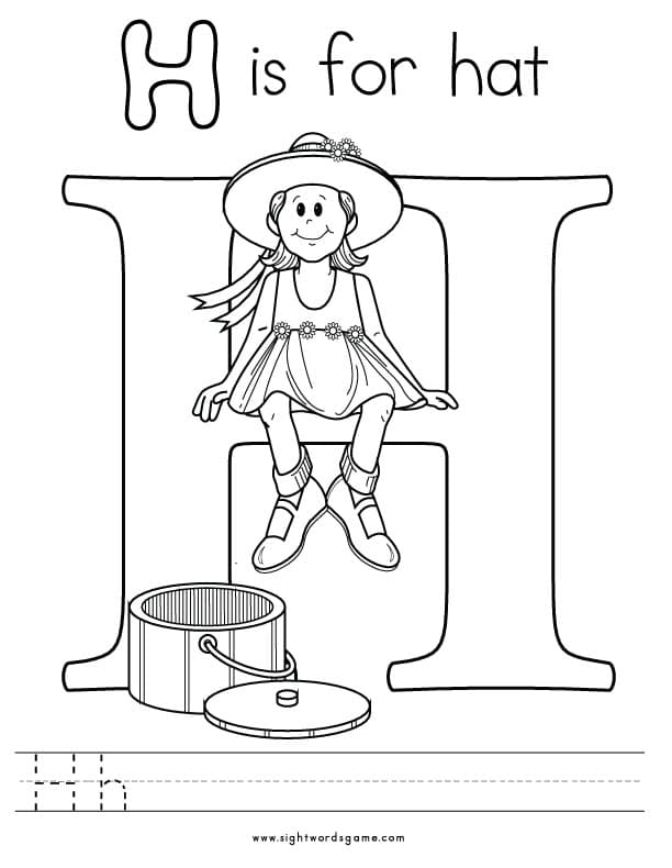 H Coloring Pages Letter-H-Coloring-Page-2