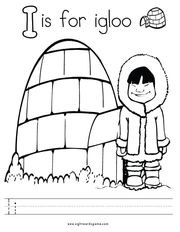 Alphabet Coloring Pages I Colouring Pages