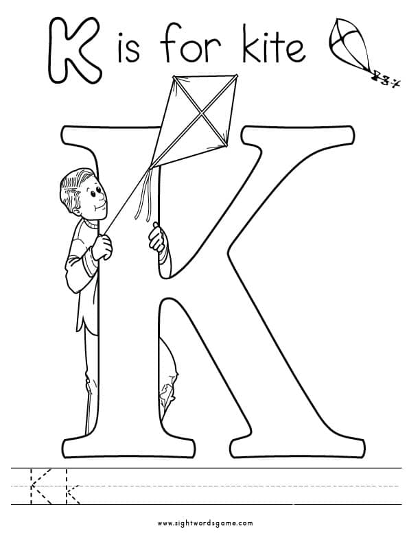 the letter k coloring pages - photo#8