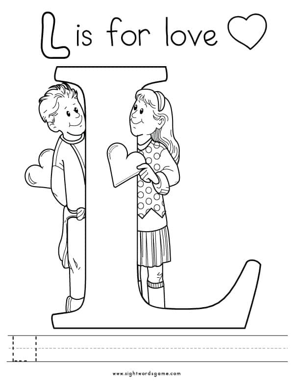letter l coloring page - alphabet coloring pages