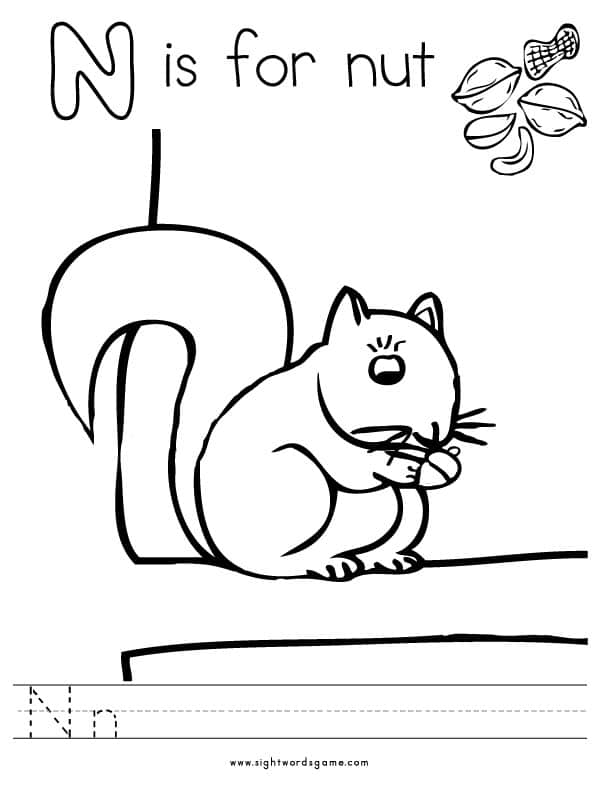 n coloring pages - photo #41