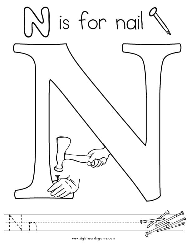 n coloring pages - photo #28