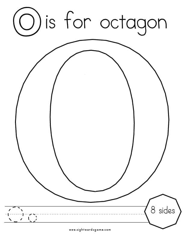 o coloring pages - photo #17