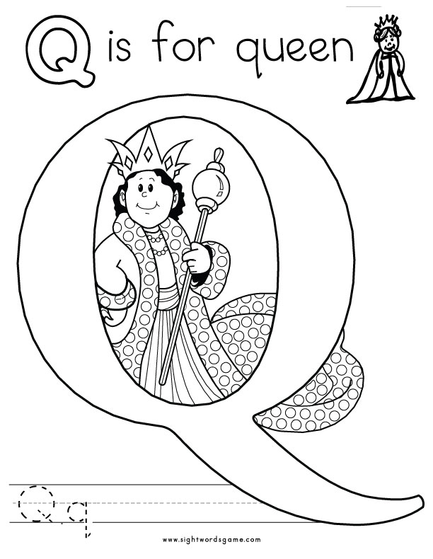 Q Is For Queen Coloring Page Alphabet Coloring Page...