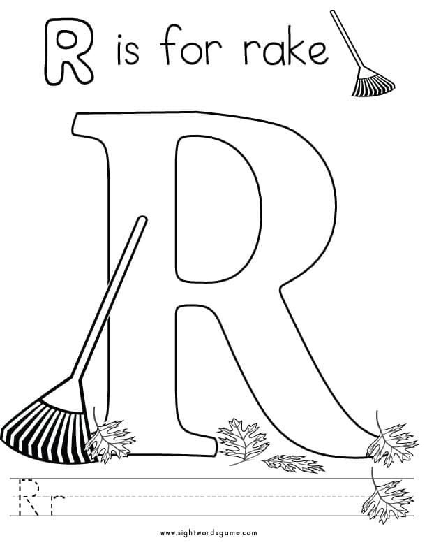r letter coloring pages - photo #22