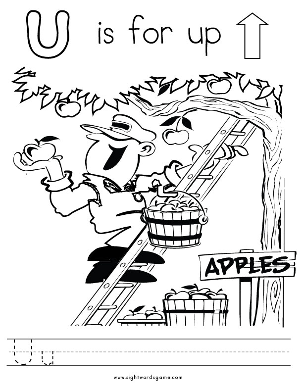 letter u coloring page 1